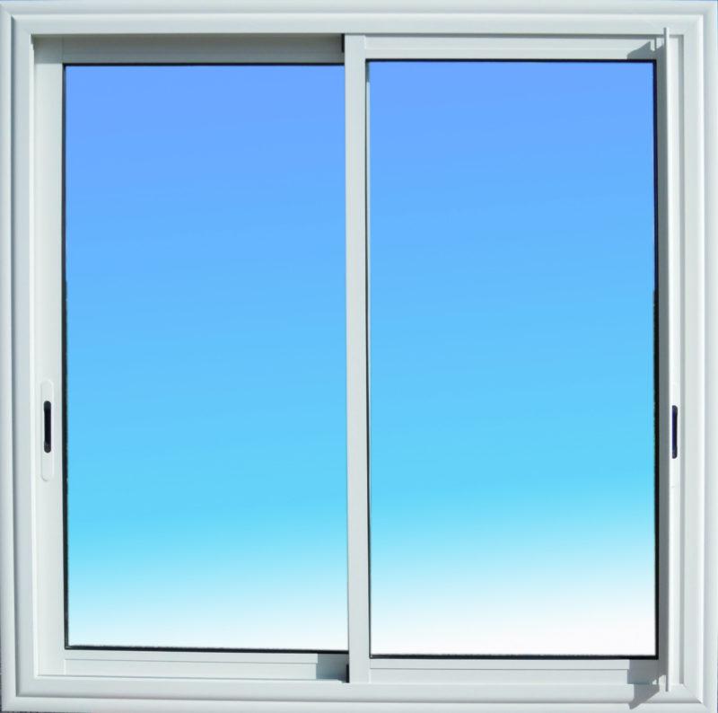 Fenêtre coulissante CF21 aluminium 2 vantaux Gamme Vision ABD Fermetures