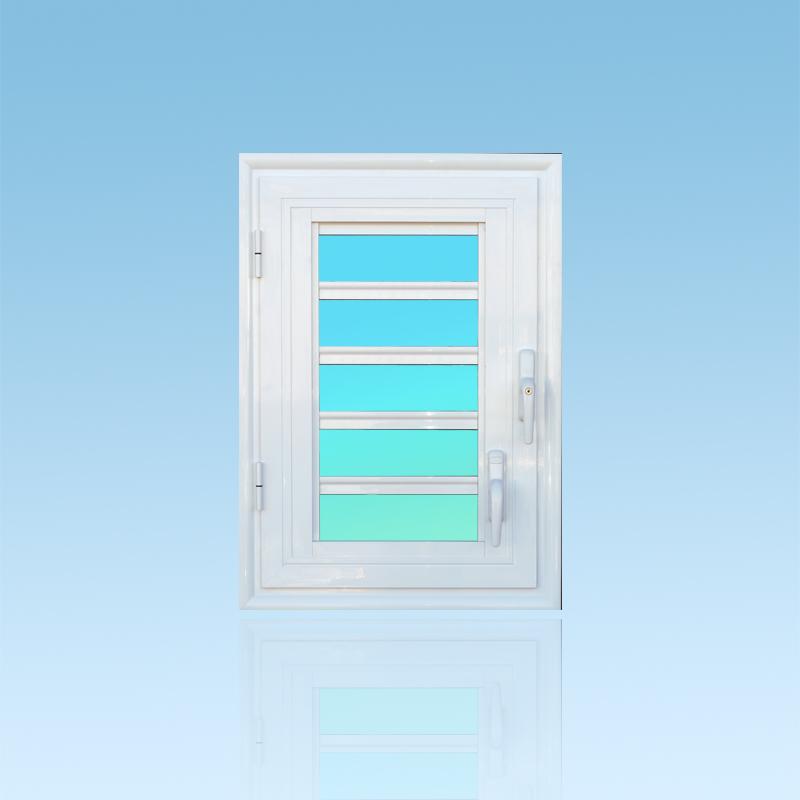 Fenêtre ouvrante OF15, 1 vantail aluminium avec jalousie lames de verre ABD Fermetures.