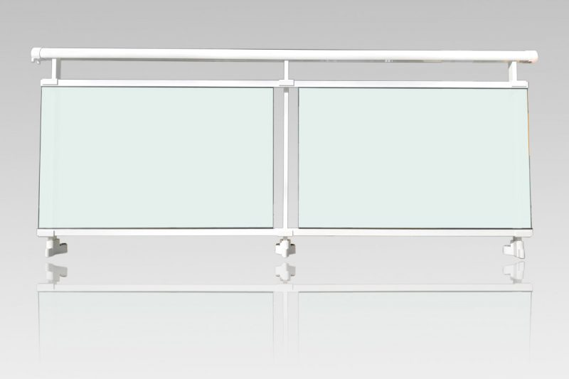Garde corps aluminium vitrage Opale stadip 44/2 ABD FERMETURES
