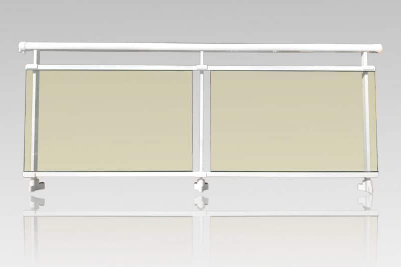Garde corps aluminium vitrage Stopsoleil stadip 44/2 ABD FERMETURES