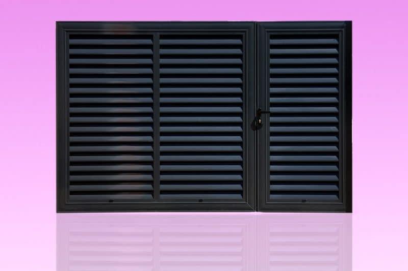 Portail et portillon brise vue en aluminium laqué anthracite ABD FERMETURES