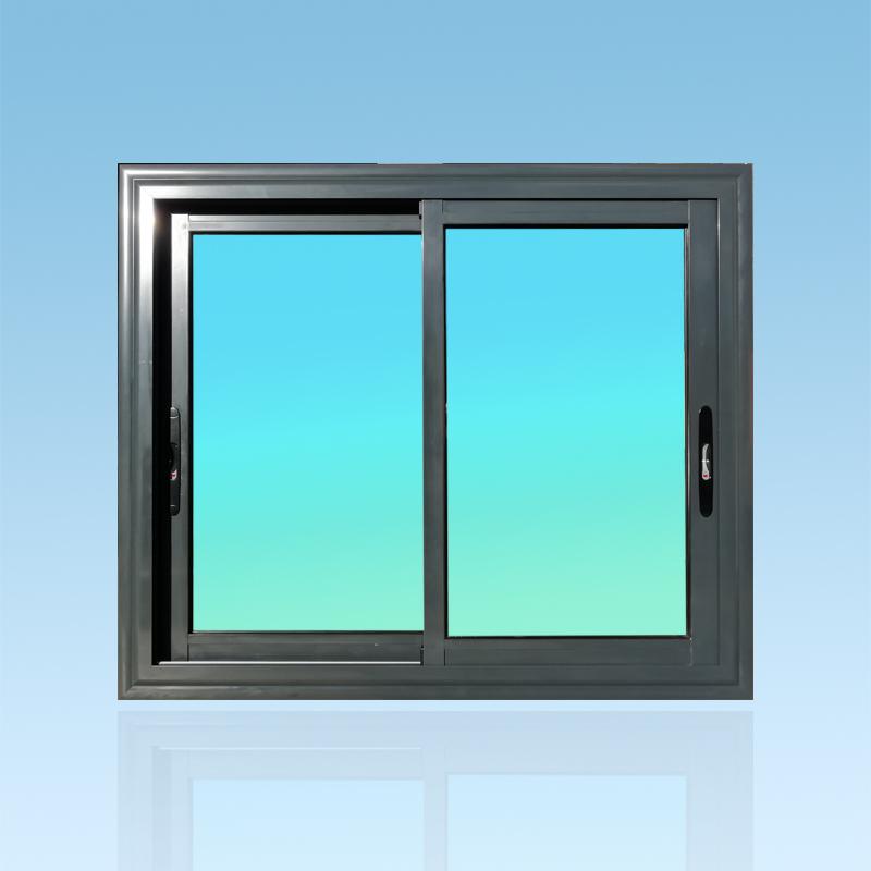 Fenêtre coulissante CF21-ANTHRACITE aluminium 2 vantaux ABD Fermetures