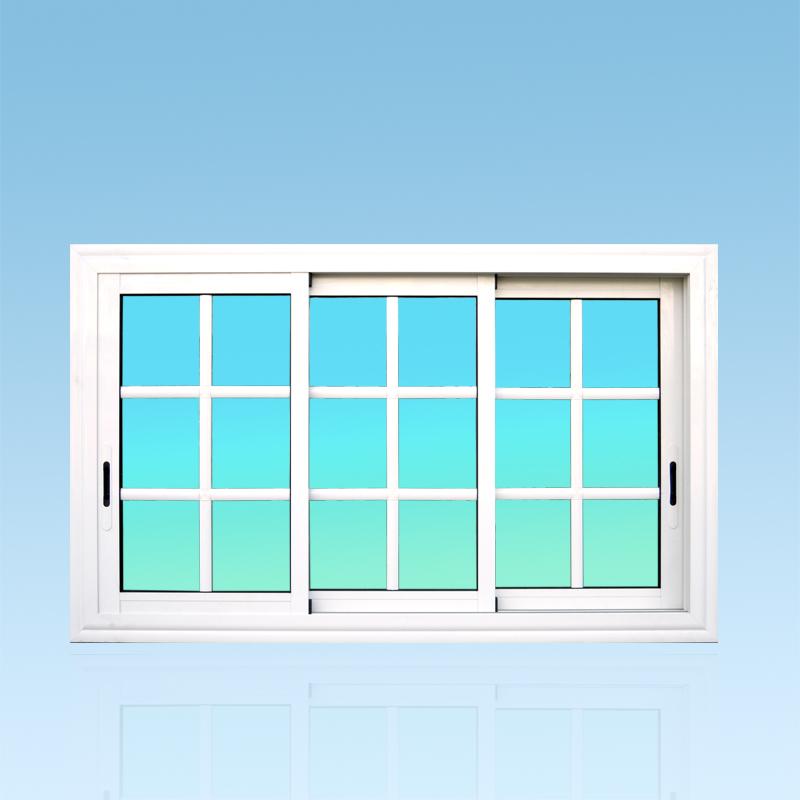 Fenêtre coulissante CF32 aluminium 3 vantaux Gamme Caraïbes ABD Fermetures