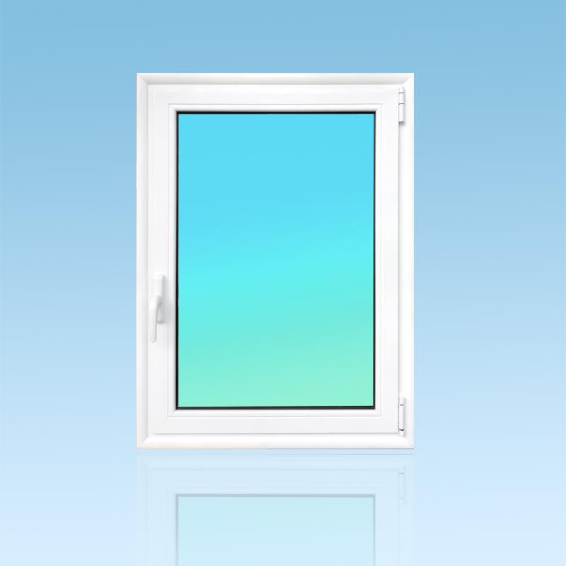 Fenêtre ouvrante aluminium OF11 1 vantail vitrage clair 8mm. ABD Fermetures