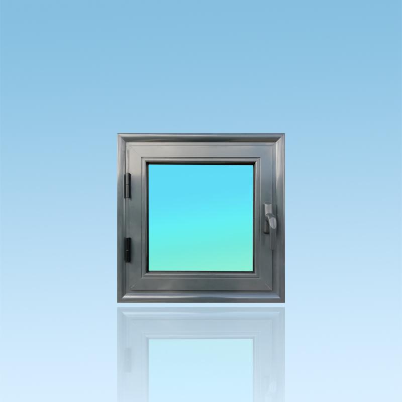 Fenêtre ouvrante aluminium OF11-ANTHRACITE 1 vantail vitrage clair 8mm. ABD Fermetures