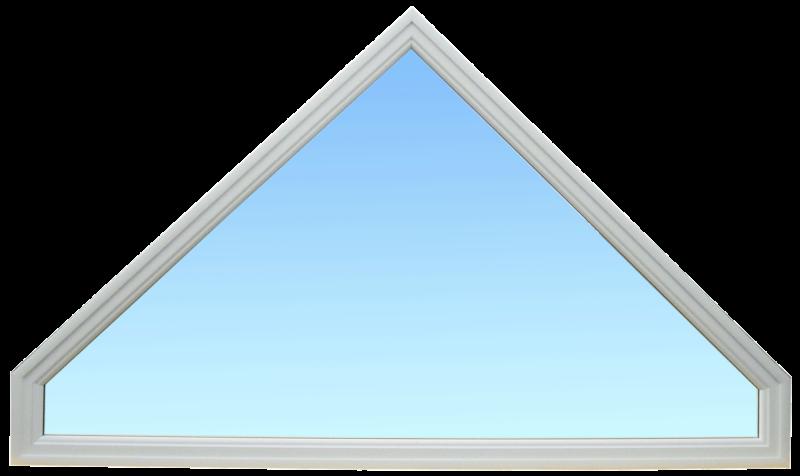 Châssis fixe de forme triangulaire en aluminium laqué blanc ABD FERMETURES.