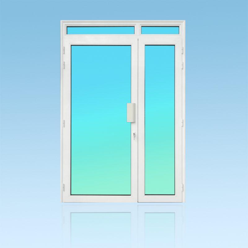 Porte PE21-IMPOSTE 2 vantaux aluminium avec imposte ABD FERMETURES