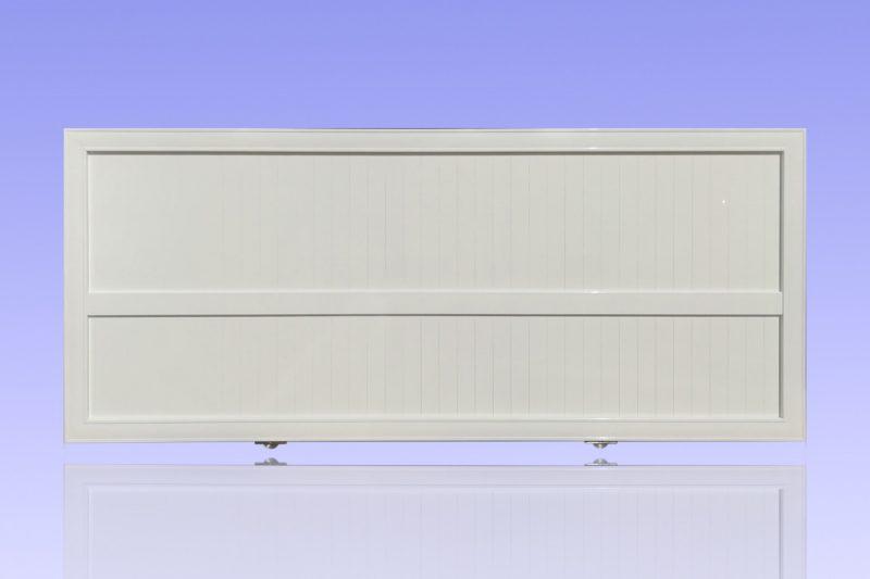 Portail plein coulissant en aluminium laqué ABD FERMETURES