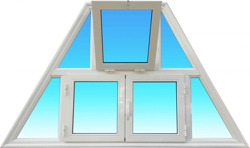 Trapèze en aluminium laqué avec fenêtre et soufflet