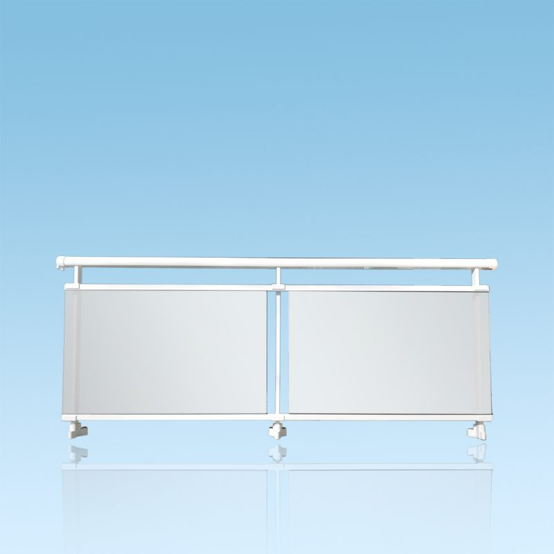 Garde corps aluminium vitrage Stopsoleil gris stadip 44/2 ABD FERMETURES